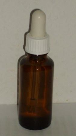 30 ml barna folyadéküveg pipettás kupakkal